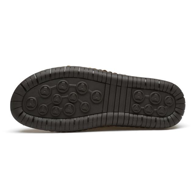 Классические зимние мужские ботинки мокасины 3