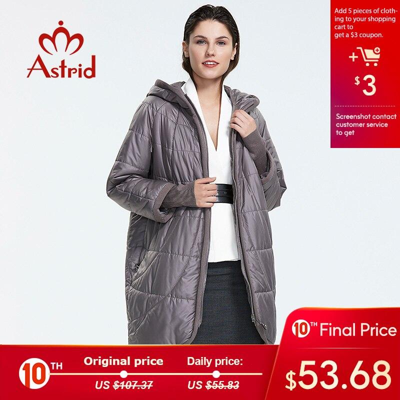 NEW 2019 Аstrid куртка женская в зиму женское пальто с капюшоном на молнии плюс размеры леди женская утепленная парка plus size AM-2075