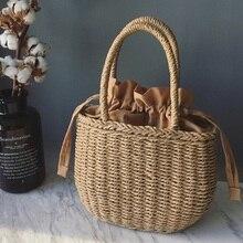 Соломенные сумки для женщин летняя плетеная Сумка из ротанга ручной работы плетеная пляжная сумка богемная БАЛИЙСКАЯ Сумочка BOLSOS mimbre