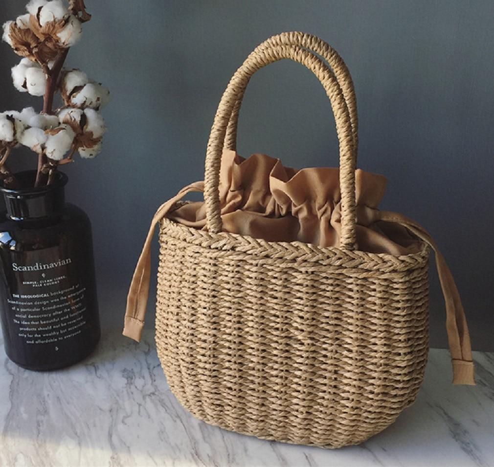 Straw Bags for Women 2020 Summer Hand Woven Rattan Bag Handmade Woven Purse Wicker Beach Bag Bohemia Bali Handbag bolsos mimbre|Top-Handle Bags| - AliExpress