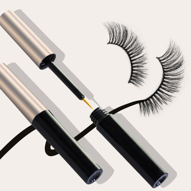 5 Magnet Eyelash Magnetic Eyeliner & Magnetic False Eyelashes & Tweezer Set 6 PCS Resuable Eyelashes Makeup Kit New Year Gift 4