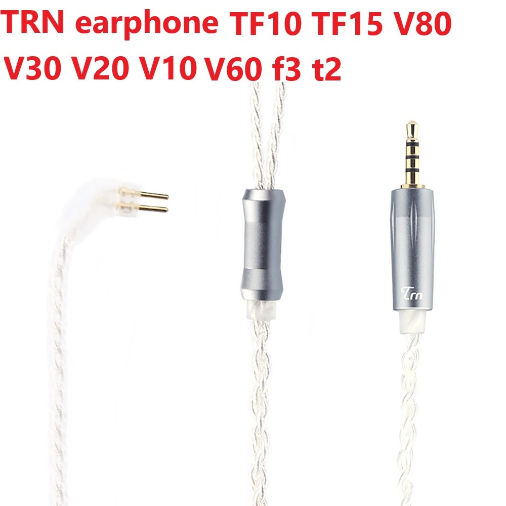 Newest TRN Earphone Upgrade <font><b>Cable</b></font> <font><b>2</b></font>.5 <font><b>MM</b></font> Balanced Silver-plated <font><b>Cable</b></font> <font><b>0.75</b></font>/ 0.78mm Mmcx <font><b>2</b></font> <font><b>Pin</b></font> Plug TF10 TF15 V80 V30 V20 V10 image