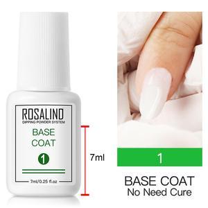 Основа для порошка ROSALIND 7 мл, базовая верхняя щетка для пальто, праймер для активного отдыха для гелевого маникюра, отмачиваемый УФ-гель, дол...
