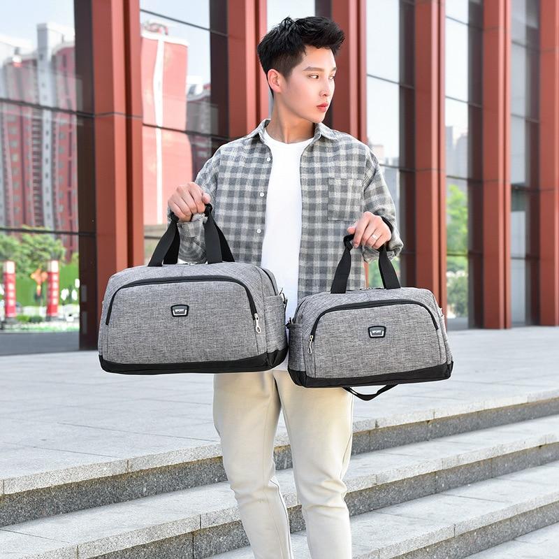 2019 New Hand-held Travel Bag Luggage Shoulder Bag Fitness Bag Women's And Men's Basketball Bag Shoes Hand-held Travel Bag