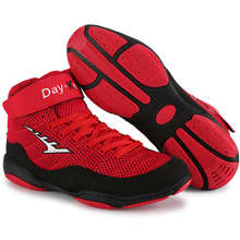 2021 Boys Girls Wrestling Shoes Professional Boxing Shoes Size 33-46 Breathable Man Training Combat Sneakers Teenager Sport Shoe