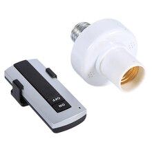 E27 винт беспроводной пульт дистанционного управления лампочка держатель колпачок гнездо Переключатель 220 в беспроводной пульт дистанционного управления держатель лампы