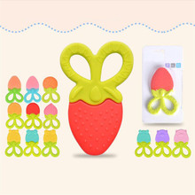 2019 Style Strawberry Silicone Baby Teether Infant Silicone Teeth Care Newborn