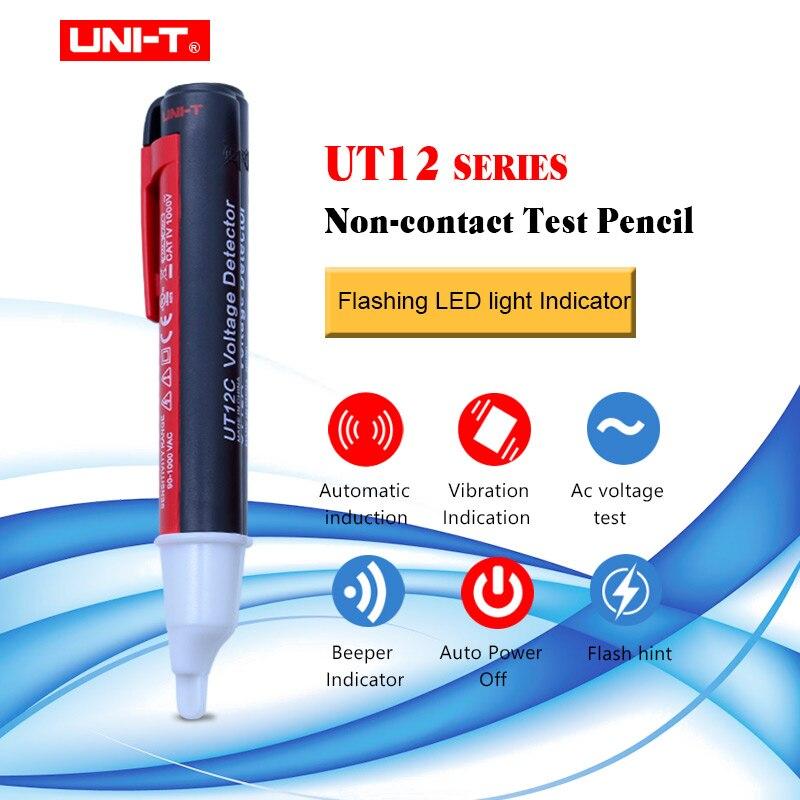 UNI-T UT12A/12B/12C handheld Tensão Caneta Testador 90 Não-contato Detector de Tensão AC 1000 V ~ V Bip Indicador