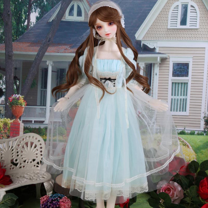 New Arrival 1/3 1/4 1/6 BJD Doll Fashion Blue Lace  Dress Clothes For Bjd Dolls Toys Accessories