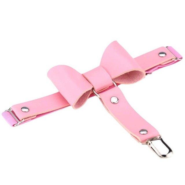 harajuku handmade punk Rock goth Bow garter belts leg ring  Punk Women Solid Color Bowknot Elastic Leg Garter Belt Thigh Ring NE 10