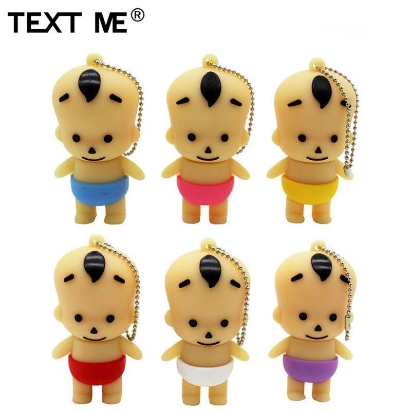 TEXT ME Cute Mini Baby Usb Flash Drive Usb 2.0 4GB 8GB 16GB 32GB 64GB Pendrive Gift Usb