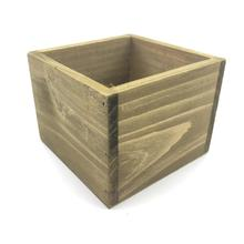 8 unids/lote D11xH8CM cubo caja de madera cajas de almacenamiento de madera SF 05225
