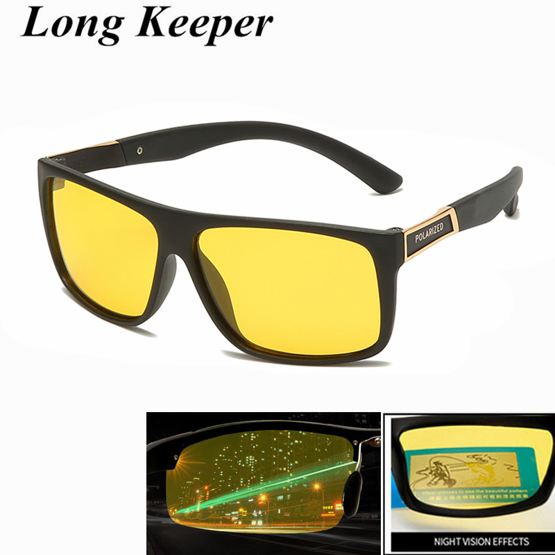 Men Women TR90 Night Vision Driver Goggles Sun Glasses Car Driving Sunglasses UV400 Anti-glare oculos Accessories