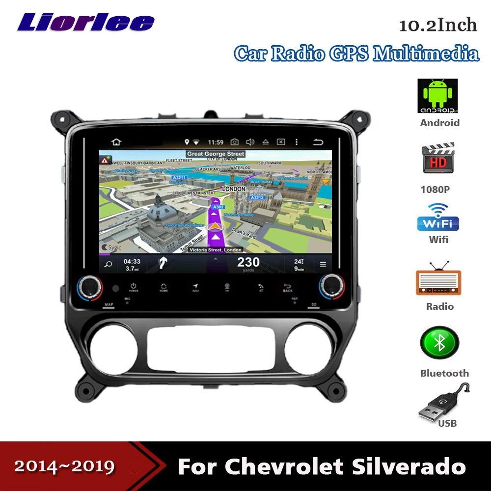 Liorlee Car Vide Multimedia For Chevrolet Silverado 2014-2019 Android Radio Stereo Player WIFI BT GPS Navi Navigation System
