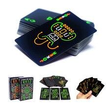 Черная ночь игральные карты флуоресцентные игральные карты Ночная игра реквизит светящийся специальный покер командная игра для наружного бара KTV инструмент