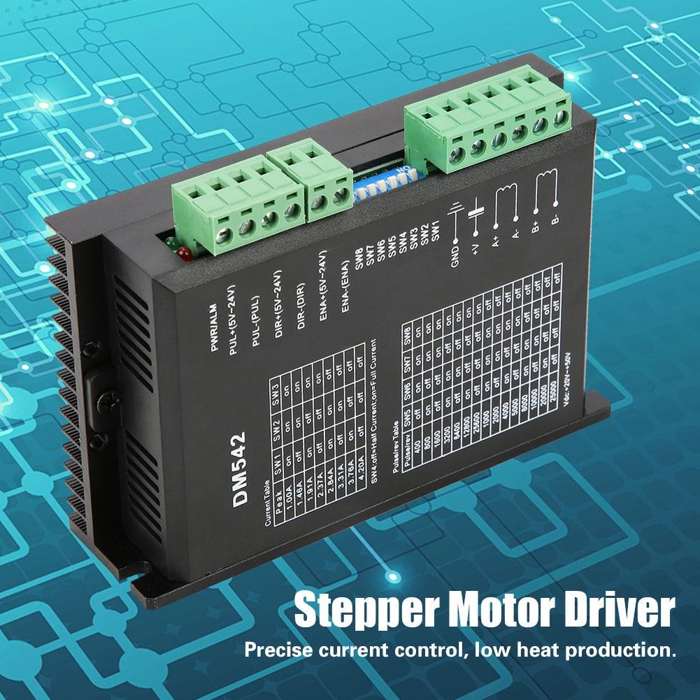 DM542 2-фазный контроллер, Цифровой Драйвер шагового двигателя серии 57/86, Драйвер шагового двигателя 18-48 В постоянного тока А