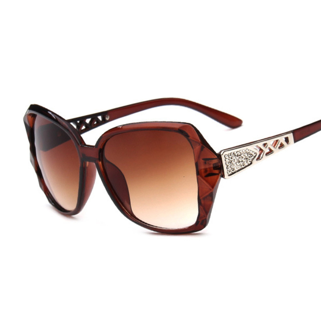 Fashion Square Sunglasses Luxury Brand Big Purple  3