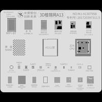 MJ 3D reparación BGA plantilla Groove A8 A9 A10 A11A12 A13 plantación para iPhone6 6P 6S 6SP 7P 8P X XR XS MAX 11 Pro Max