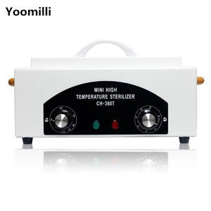 Nail Art Equipment High temperature Sterilizer Box with Hot Air - Disinfection Cabinet For Nail Art Tool 220V