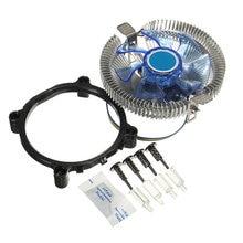 Кулер для процессора, вентиляторы радиатора, синий светодиодный светильник для Intel LGA775/1156/1155 i3/i5/i7 для AMD AM2/AM2 +/AM3 для AM4 Ryzen
