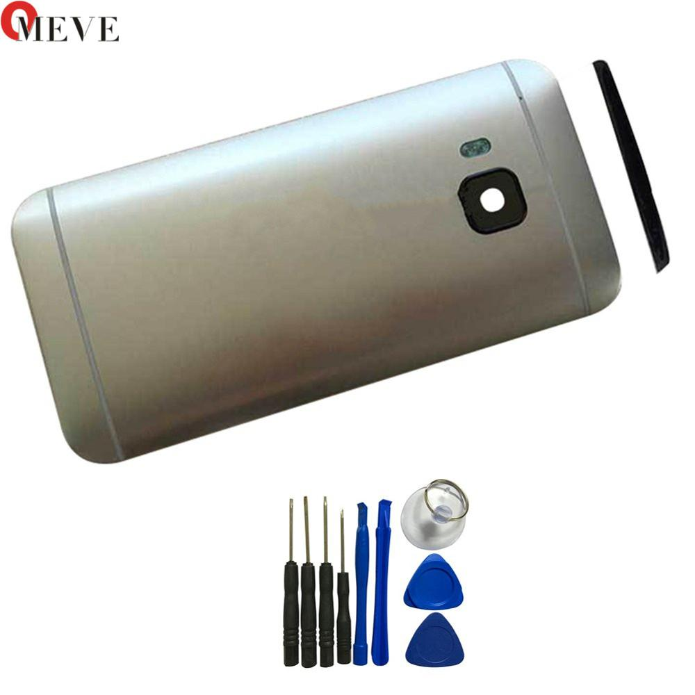 Original Metal Rear Housing Door For <font><b>HTC</b></font> <font><b>One</b></font> <font><b>M9</b></font> Back <font><b>Battery</b></font> Cover <font><b>Case</b></font> with Top Cover +Side buttons+tools image