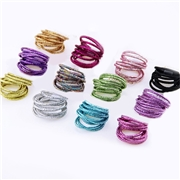 New 10PCS Girls Candy Colors Nylon Gold Wire Rubber Bands Children Safe Elastic Hair Bands Ponytail Holder Kids Hair Accessories