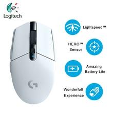 2018 najnowszy Logitech G304 LIGHTSPEED bezprzewodowa mysz do gier z czujnikiem bohatera 12000dpi 400ips AA bateria do systemu Windows Mac