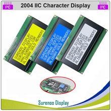 Последовательный IIC I2C TWI 2004 204 20*4 ЖК-модуль с английскими и японскими символами, экран панели дисплея для Arduino