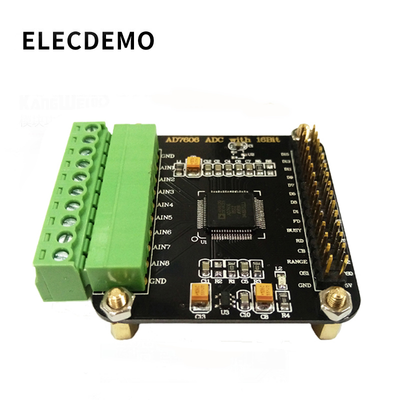 AD7606 Module Multi-channel AD Data Acquisition Module 16-bit ADC 8-channel Synchronization Sampling Frequency 200KHz