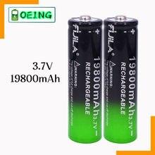 El más nuevo 18650 de la batería de 3,7V 19800 mAh batera recargable de Li-Ion para linterna LED Caliente Nueva de Alta Calidad