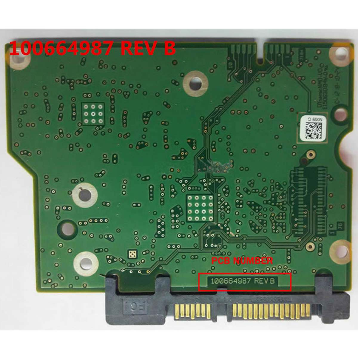 100664987 Logic Controller Board PCB Replacement Circuit Board Practical Durable HDD Accessories Printed For <font><b>ST2000DM001</b></font> image