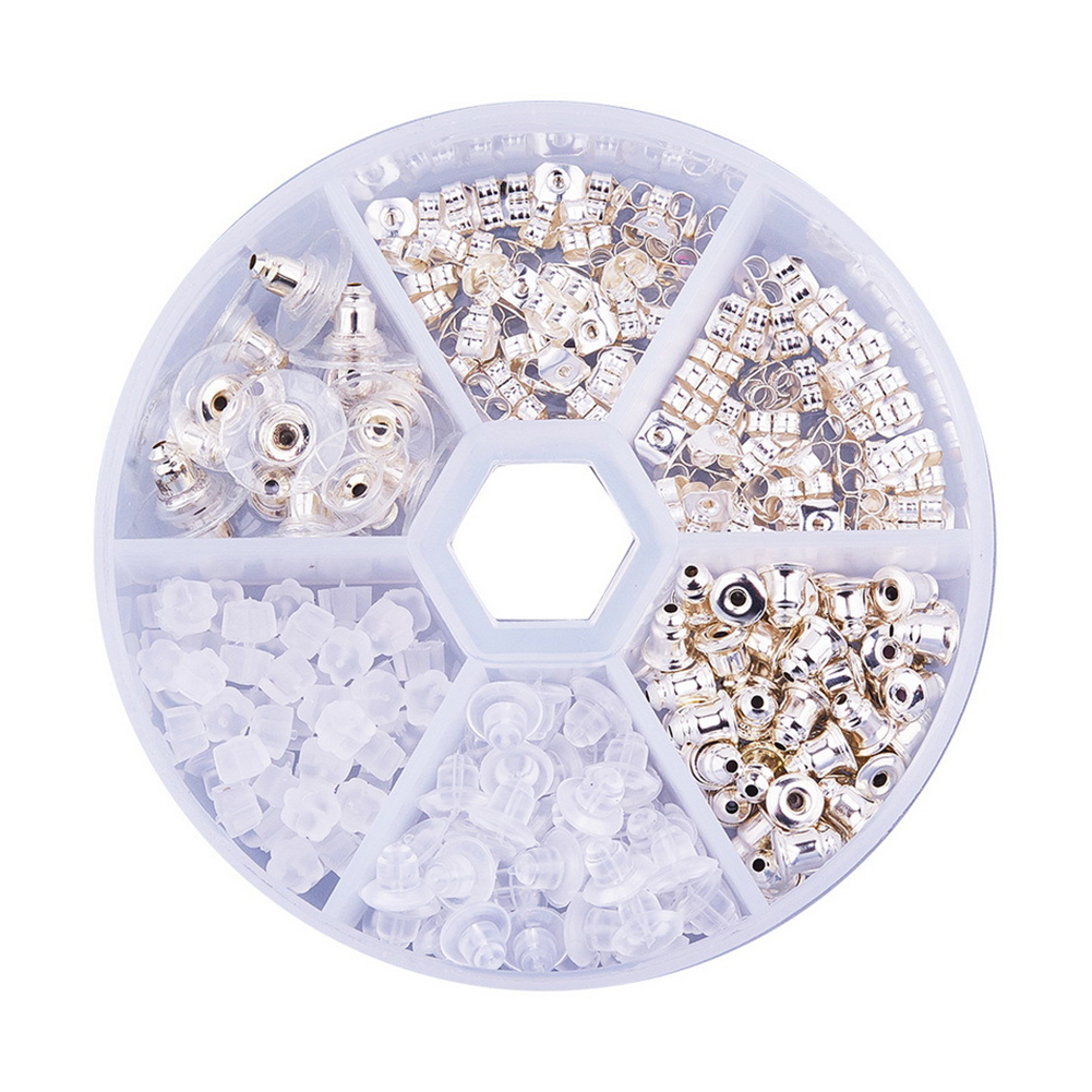 260pcs Practical Findings DIY Earnut Sets Universal Safety Earring Backs Ear Stud Jewelry Making Multiple Styles Accessories