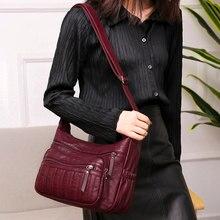 Kadın yumuşak deri omuz çantaları kadın kadınlar için Crossbody çanta bayan çanta tasarımcısı banliyö çantası