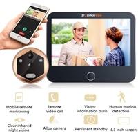 Wireless Wifi Video Intercom Doorbell Video Door Peephole Viewer Door Bell Home Security WIFI Doorbell Camera Motion Detection