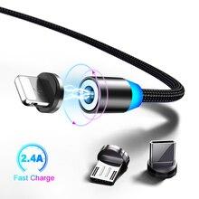 Магнитный кабель Marjay type-C для samsung A50, быстрая зарядка, Micro USB кабель для Xiaomi, huawei, магнитное зарядное устройство, USB шнур для iPhone 7