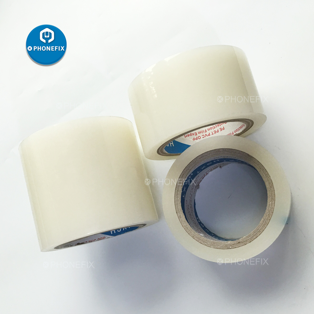 50M Tape Adhesive Sticker Transparent No Trace Waterproof Tape For Phone LCD Screen Glass Cleaning Film Sticker