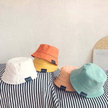 Solid Color Cotton Baby Hats Spring Summer Kids Boys Girls Sun Hats Autumn Fisherman Hat Beach Caps