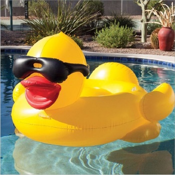 Environment-friendly PVC inflatable water supplies for adult children inflatable mount inflatable duck float