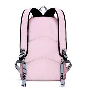 Image 5 - Fengdong moda preto rosa impermeável náilon mochila escolar para meninas estilo coreano mochila bonito bowknot crianças sacos de escola