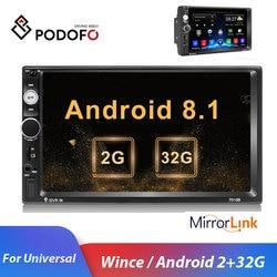Podofo 2din Car Radio Android Mirrorlink Bluetooth GPS Wifi FM Car Multimedia MP5 Player For Volkswagen Nissan Hyundai autoradio