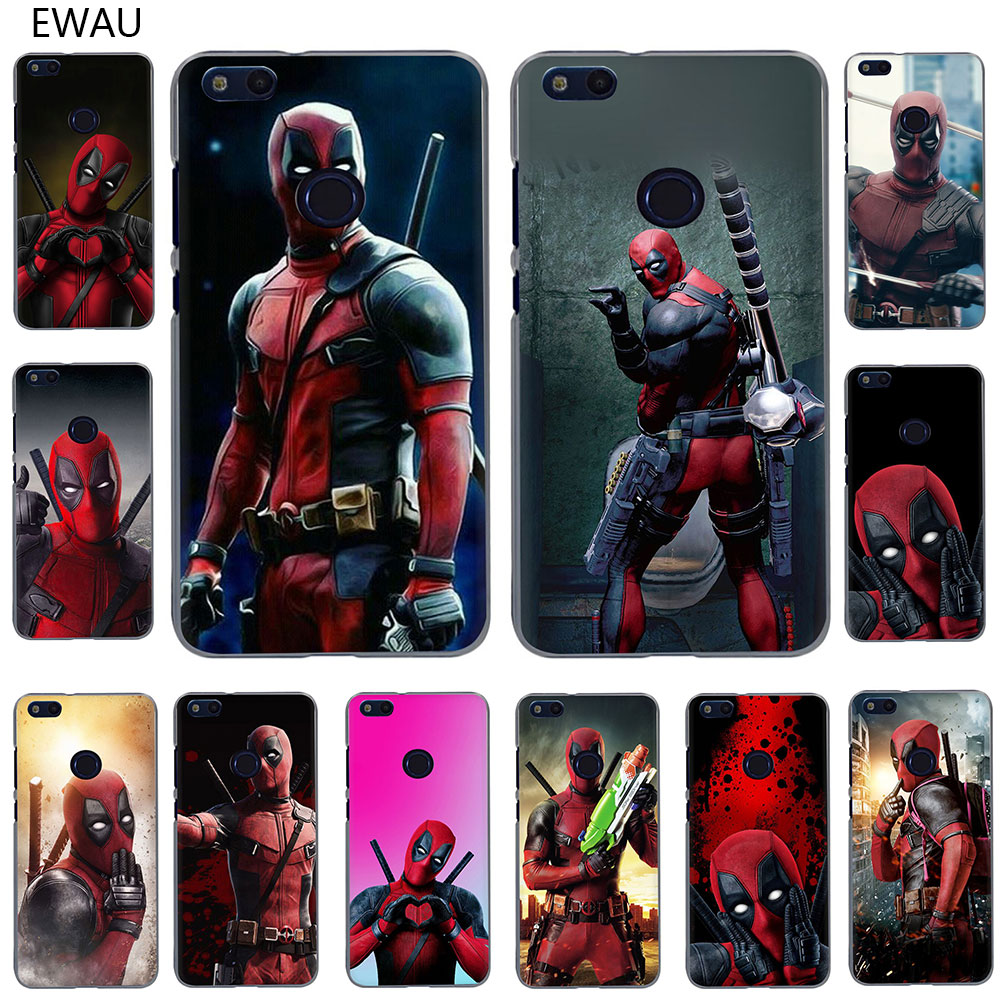 EWAU Cool <font><b>Marvel</b></font> Hero Deadpool Hard <font><b>Phone</b></font> <font><b>Case</b></font> for Huawei <font><b>Honor</b></font> view 20 Play 6A 6C 7A 7C 7X 8C 8X 9X 8 <font><b>9</b></font> 10 <font><b>Lite</b></font> pro image