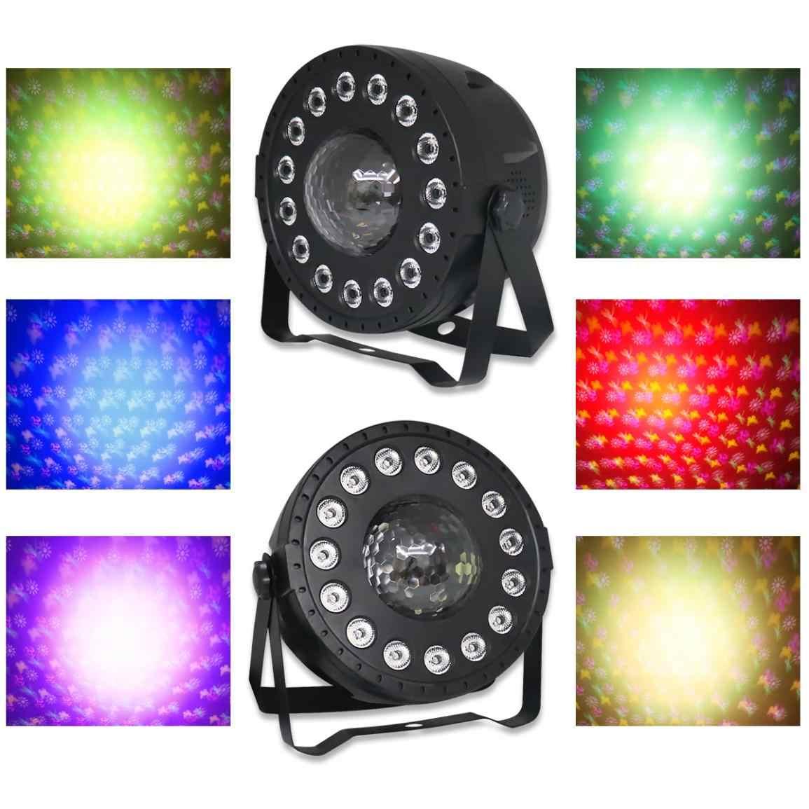 SP102 30W Two-In-Salah Satu Pola Pencelupan Lampu PAR LED dengan Kontrol Suara/Auto/DMX512 /Master-Slave/Nirkabel RF Remote Control