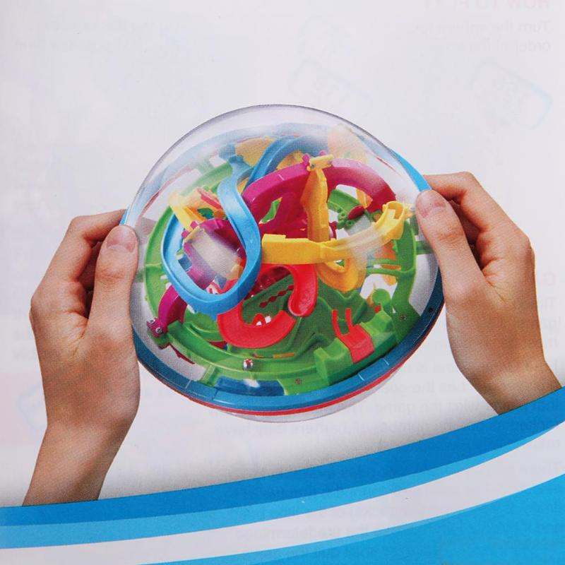 3D Ball Maze Puzzle Game Labyrinth Magical Intellect Maze Ball Perplexus Ball Intelligence Logic Ability Training Game Toy