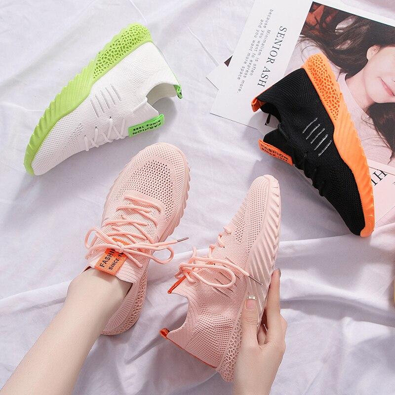 Women's shoes sports shoes casual mesh breathable flat shoes single shoes women's tennis shoes