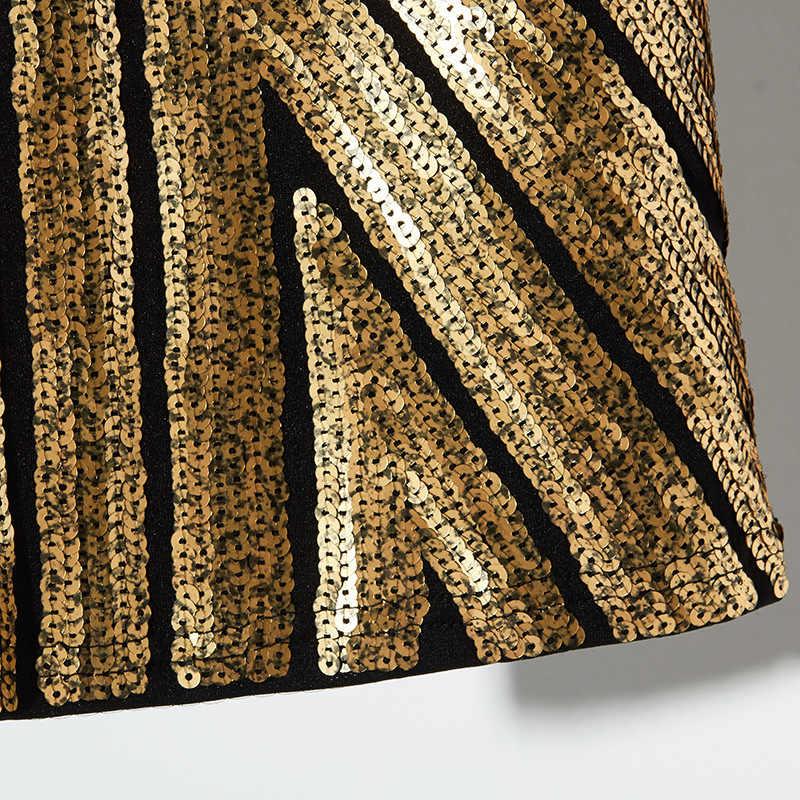 Zomer Gouden Zilveren Glanzende Pailletten Wrap Rok Vrouwen Slim Fit Bodycon Gothic Streetwear Sexy Mini Gestreepte Vrouwelijke Potlood Rokken