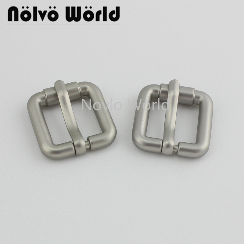 6 Pieces, Inner Width 16.6mm, Pearl Silver Metal Pin Buckle Men's Bag Shoe Strap Belt Adjusted Pin Buckle Accessories