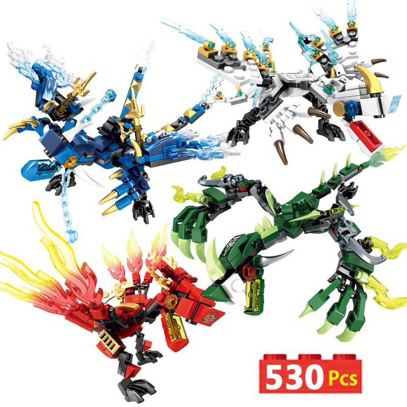530cs Dragon Knight Building Blocks Enlighten Toy For Children Compatible With Inglys Bricks For Boy Friends