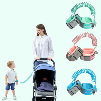 Kids Safety Harness Adjustable Children Leash Anti-lost Wrist Link Traction Rope Baby Walker Wristband