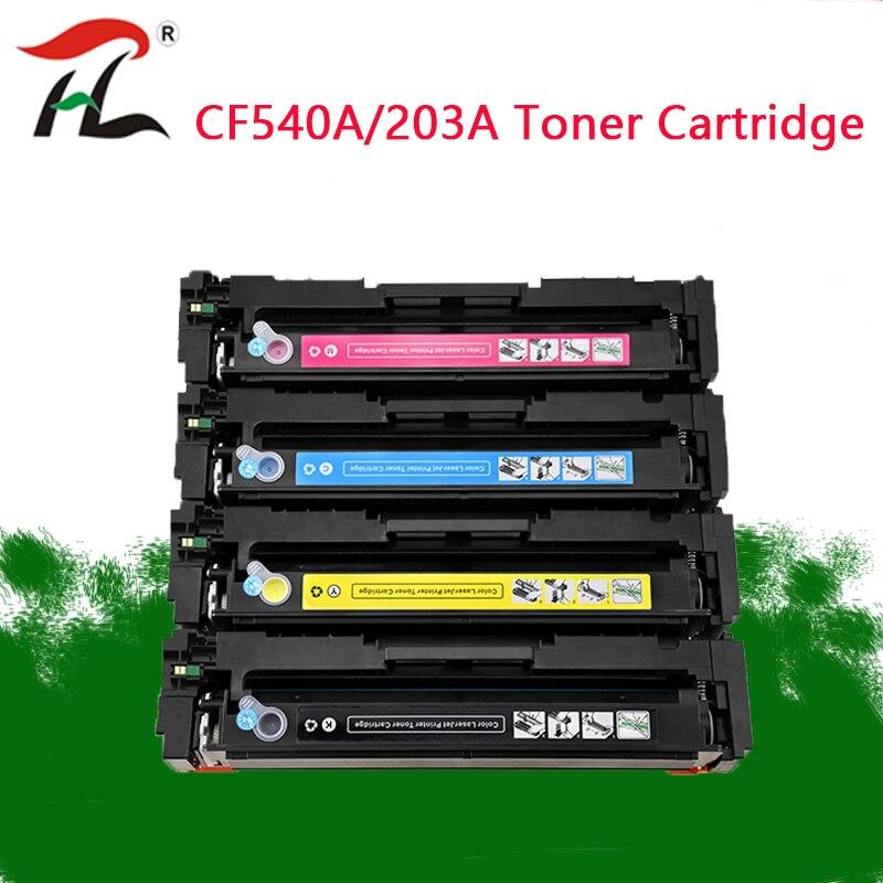 Compatível para hp Cartucho de Toner para hp Laserje M254nw M254dw Mfp M281fdw M281fdn M280nw Impressora 203a Cf540a 540a Pro