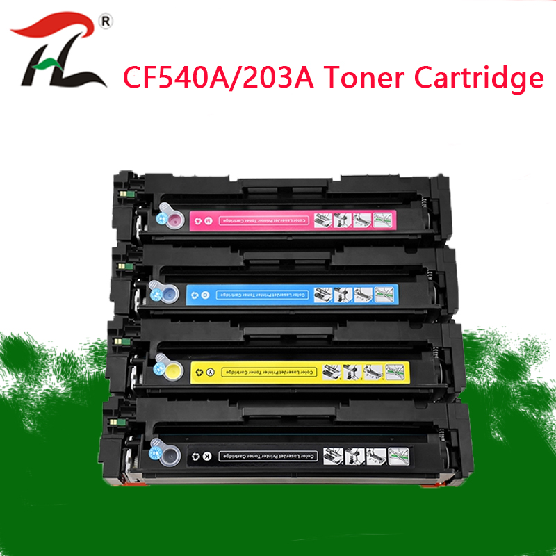 Compatible for hp 203A CF540A 540a toner cartridge for HP LaserJe Pro M254nw M254dw MFP M281fdw M281fdn M280nw printer-in Toner Cartridges from Computer & Office
